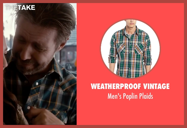 Weatherproof Vintage green plaids from Miss You Already seen with Paddy Considine (Jago)