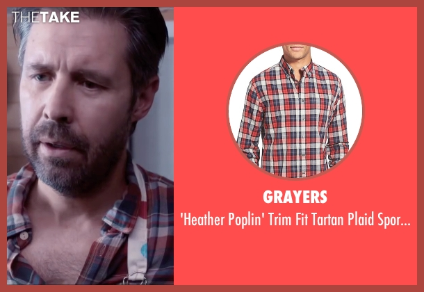 Grayers red shirt from Miss You Already seen with Paddy Considine (Jago)