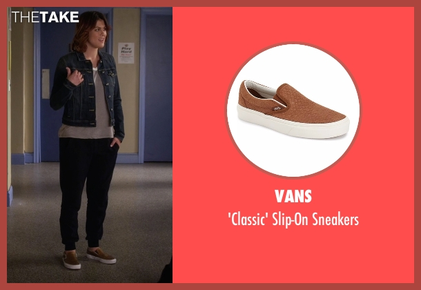 Vans brown sneakers from Pretty Little Liars seen with Paige McCullers (Lindsey Shaw)