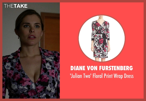 Diane von Furstenberg black dress from Jessica Jones seen with Pam (Susie Abromeit)