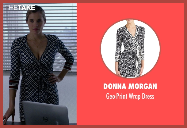 Donna Morgan black dress from Jessica Jones seen with Pam (Susie Abromeit)