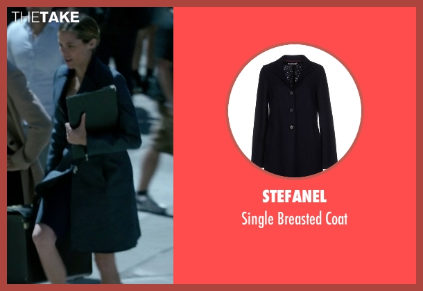 Stefanel blue coat from Jessica Jones seen with Pam (Susie Abromeit)