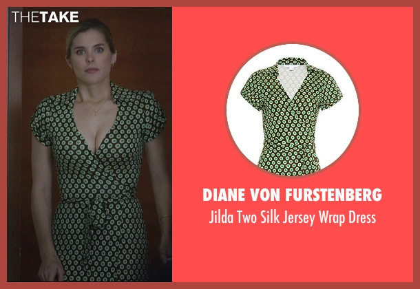 Diane Von Furstenberg green dress from Jessica Jones seen with Pam (Susie Abromeit)