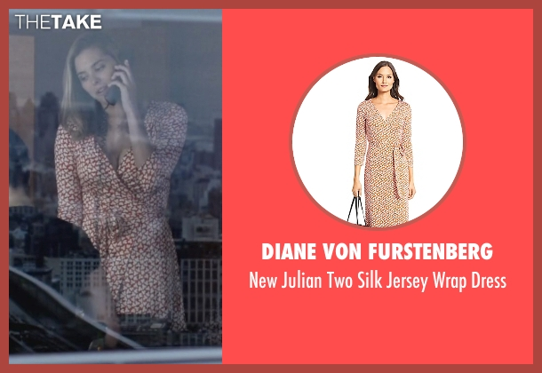 Diane Von Furstenberg orange dress from Jessica Jones seen with Pam (Susie Abromeit)