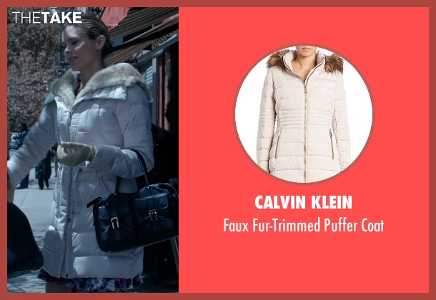 Calvin Klein white coat from Jessica Jones seen with Pam (Susie Abromeit)