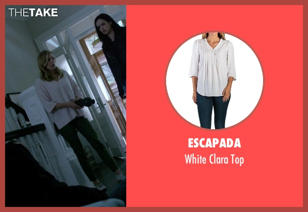 Escapada white top from Jessica Jones seen with Pam (Susie Abromeit)