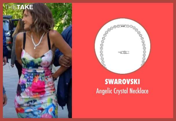 Swarovski silver necklace from The Mick seen with Pamela (Unknown Actor)