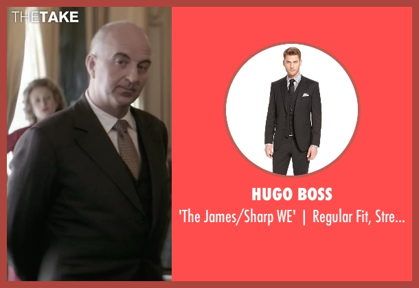 Hugo Boss black suit from Yves Saint Laurent seen with Patrice Thibaud (Christian Dior)