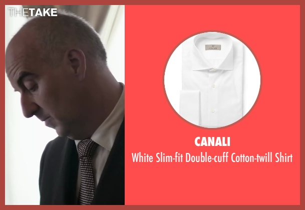 Canali white shirt from Yves Saint Laurent seen with Patrice Thibaud (Christian Dior)