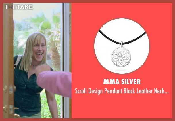 MMA Silver black necklace from Boyhood seen with Patricia Arquette (Mom)