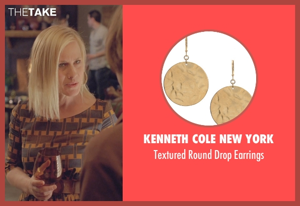 Kenneth Cole New York gold earrings from Boyhood seen with Patricia Arquette (Mom)