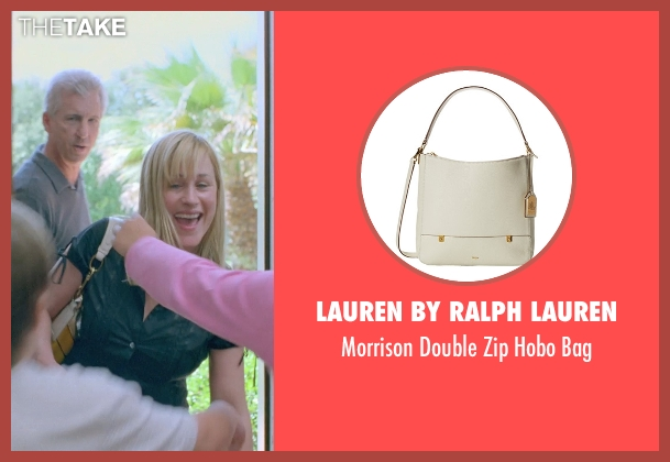 LAUREN by Ralph Lauren white bag from Boyhood seen with Patricia Arquette (Mom)