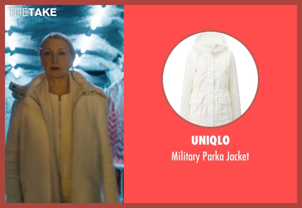 Uniqlo white jacket from Maze Runner: The Scorch Trials seen with Patricia Clarkson (Ava Paige)
