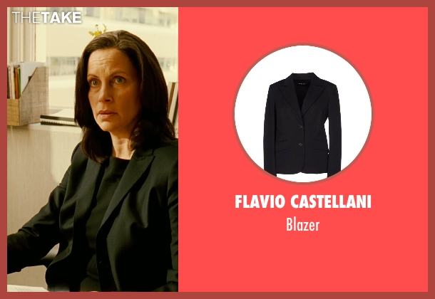 Flavio Castellani black blazer from Limitless seen with Patricia Kalember  (Mrs. Atwood)