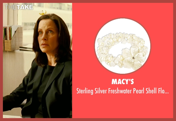 Macy's bracelet from Limitless seen with Patricia Kalember  (Mrs. Atwood)