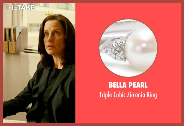 Bella Pearl white ring from Limitless seen with Patricia Kalember  (Mrs. Atwood)