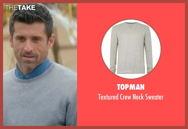 Topman gray sweater from Bridget Jones's Baby seen with Patrick Dempsey (Jack Qwant)