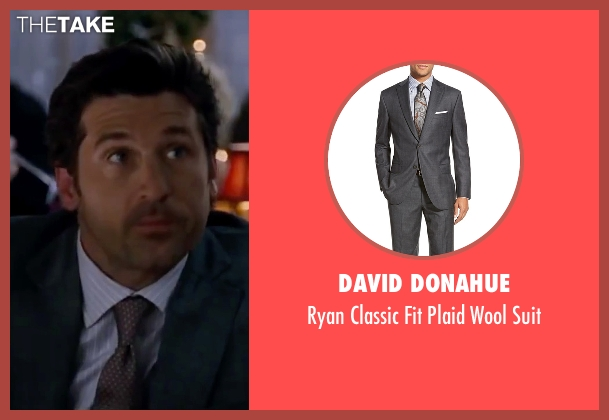 David Donahue gray suit from Valentine's Day seen with Patrick Dempsey (Dr. Harrison Copeland)