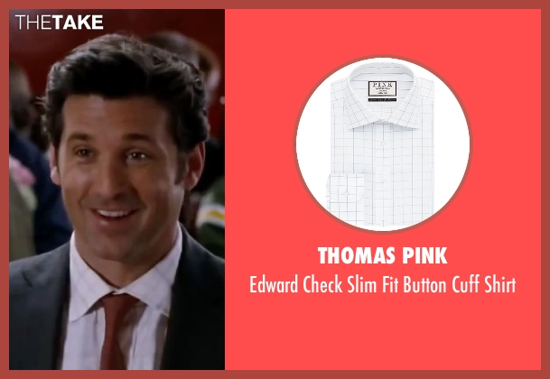Thomas Pink white shirt from Valentine's Day seen with Patrick Dempsey (Dr. Harrison Copeland)