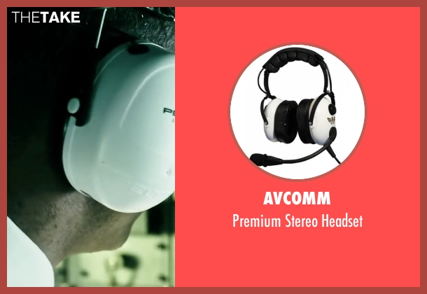 Avcomm headset from Point Break seen with Patrick Dewayne (Pilot)