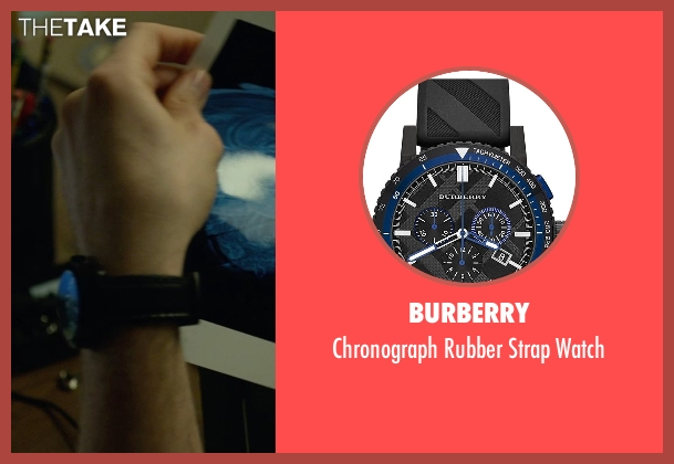 Burberry black watch from Gone Girl seen with Patrick Fugit (Detective Jim Gilpin)