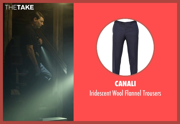 Canali blue trousers from Gone Girl seen with Patrick Fugit (Detective Jim Gilpin)