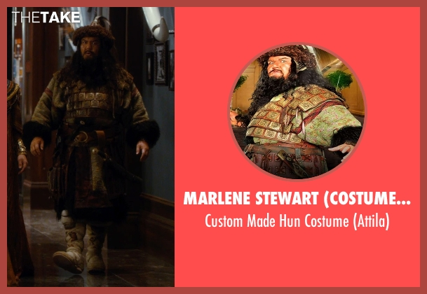 Marlene Stewart (Costume Designer) costume from Night at the Museum: Secret of the Tomb seen with Patrick Gallagher (Attila The Hun)