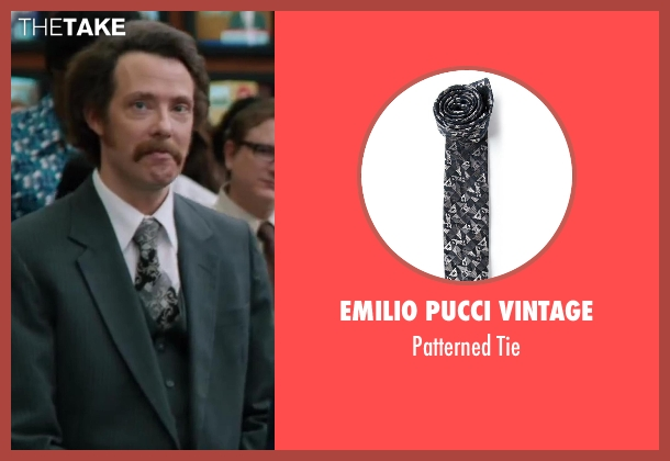Emilio Pucci Vintage black tie from Anchorman 2: The Legend Continues seen with Patrick J. Williams (Jack Lime's Field Reporter (as Patrick Williams))