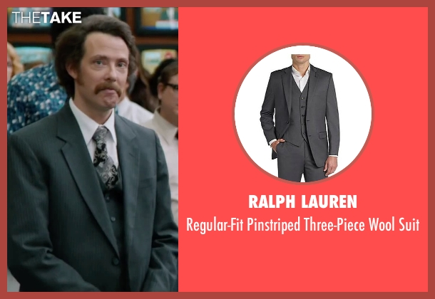 Ralph Lauren gray suit from Anchorman 2: The Legend Continues seen with Patrick J. Williams (Jack Lime's Field Reporter (as Patrick Williams))