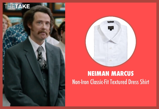 Neiman Marcus white shirt from Anchorman 2: The Legend Continues seen with Patrick J. Williams (Jack Lime's Field Reporter (as Patrick Williams))