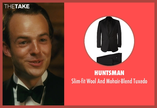 Huntsman black tuxedo from Atonement seen with Patrick Kennedy (Leon Tallis)