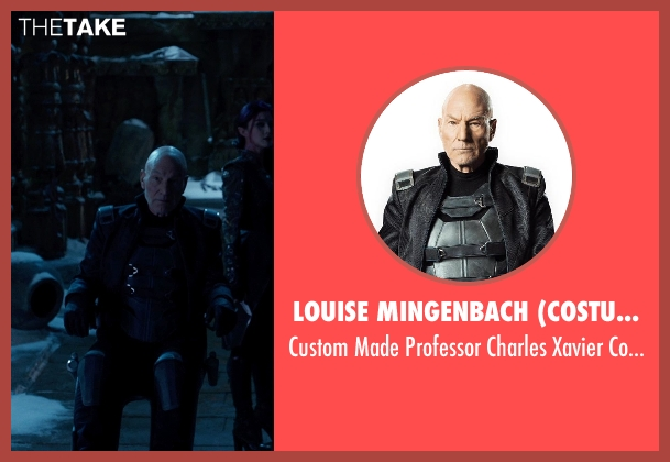 Louise Mingenbach (Costume Designer) costume from X-Men: Days of Future Past seen with Patrick Stewart (Professor Charles Xavier)