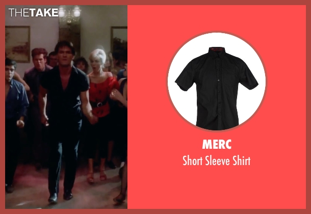 Merc black shirt from Dirty Dancing seen with Patrick Swayze (Johnny Castle)