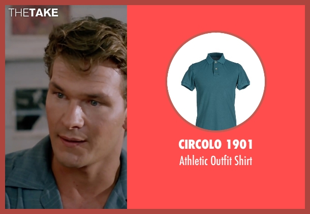 Circolo 1901 green shirt from Dirty Dancing seen with Patrick Swayze (Johnny Castle)