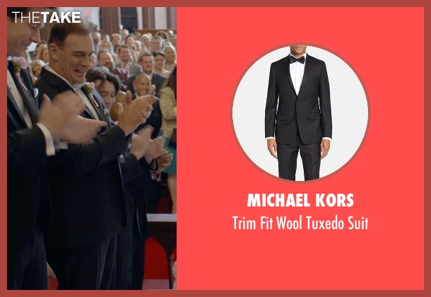 Michael Kors black suit from Ted 2 seen with Patrick Warburton (Guy)