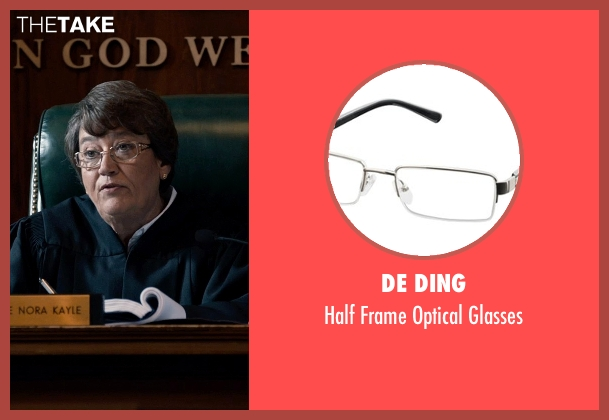De Ding silver glasses from Southpaw seen with Patsy Meck (Judge Kayle)
