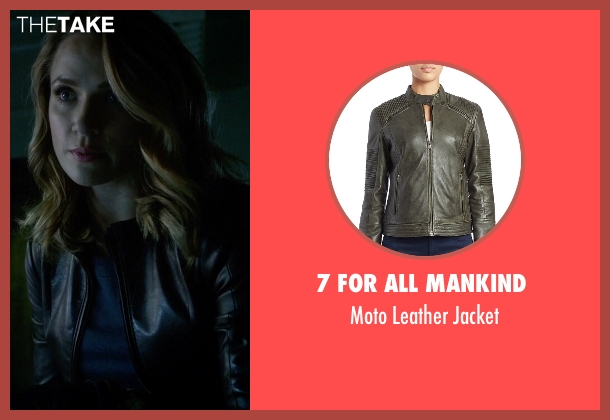 7 For All Mankind  black jacket from The Flash seen with Patty Spivot (Shantel VanSanten)