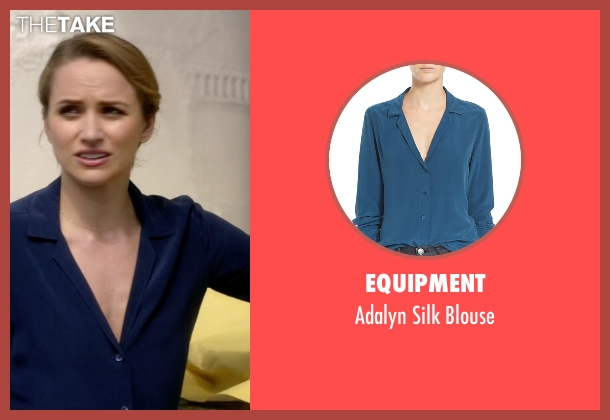 Equipment blue blouse from The Flash seen with Patty Spivot (Shantel VanSanten)