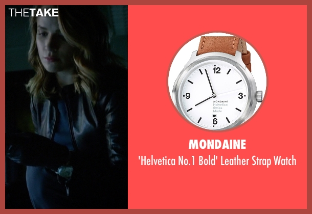 Mondaine brown watch from The Flash seen with Patty Spivot (Shantel VanSanten)