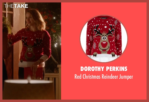 Dorothy Perkins red jumper from The Flash seen with Patty Spivot (Shantel VanSanten)