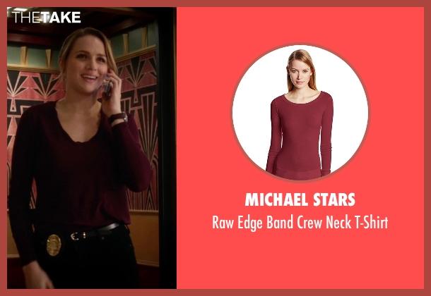 Michael Stars red t-shirt from The Flash seen with Patty Spivot (Shantel VanSanten)