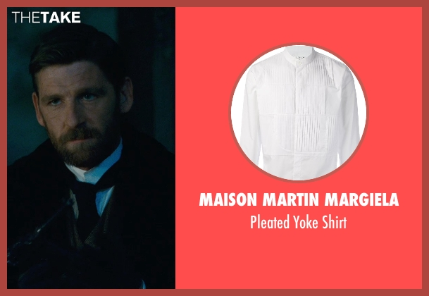 Maison Martin Margiela white shirt from Sherlock Holmes: A Game of Shadows seen with Paul Anderson (Colonel Sebastian Moran)