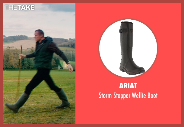 Ariat black boot from Mortdecai seen with Paul Bettany (Jock Strapp)