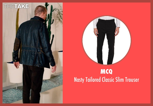 McQ black trouser from Mortdecai seen with Paul Bettany (Jock Strapp)