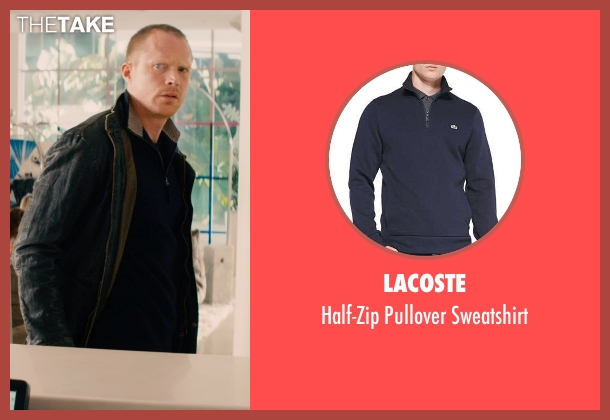 Lacoste blue sweatshirt from Mortdecai seen with Paul Bettany (Jock Strapp)