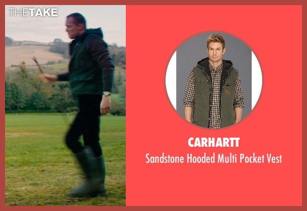 Carhartt green vest from Mortdecai seen with Paul Bettany (Jock Strapp)
