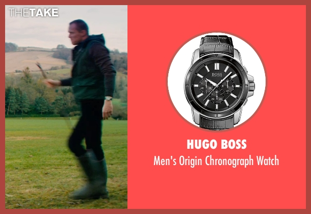 Hugo Boss silver watch from Mortdecai seen with Paul Bettany (Jock Strapp)