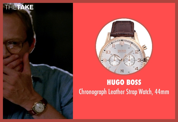 HUGO BOSS brown 44mm from Transcendence seen with Paul Bettany (Max Waters)