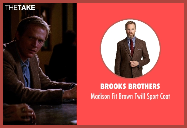 Brooks Brothers brown coat from Transcendence seen with Paul Bettany (Max Waters)