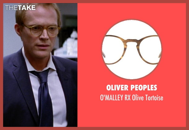 OLIVER PEOPLES brown tortoise from Transcendence seen with Paul Bettany (Max Waters)